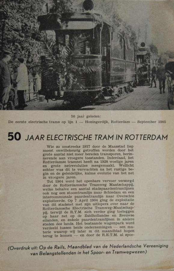 50-jaar-electrische-tram-in-Rotterdam
