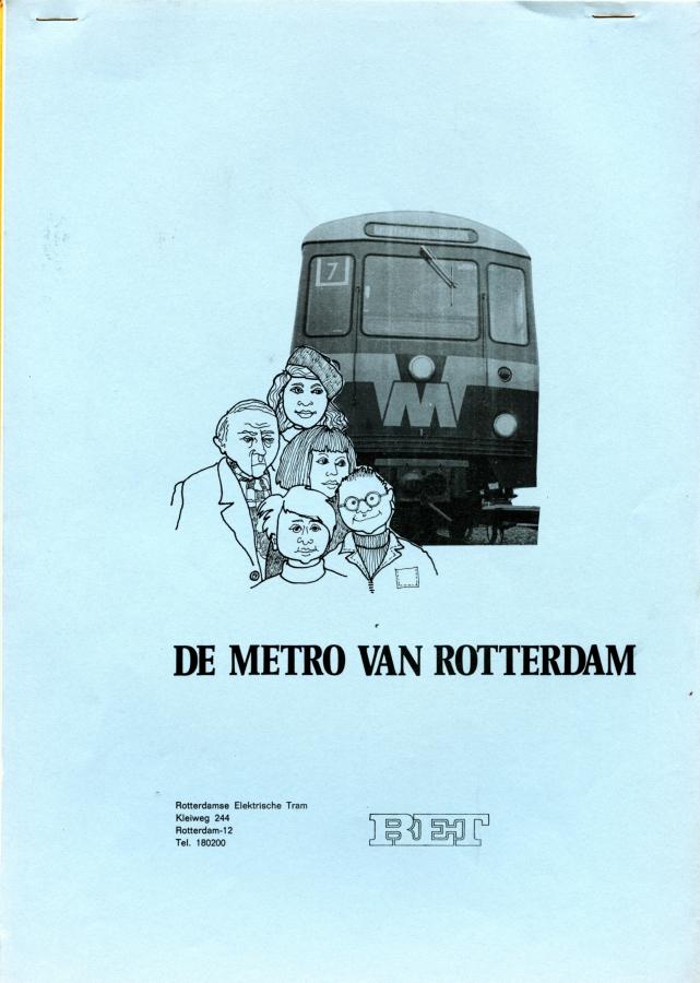 De metro van Rotterdam