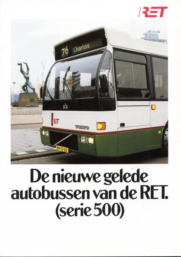 De nieuwe gelede autobussen van de RET (serie 500)