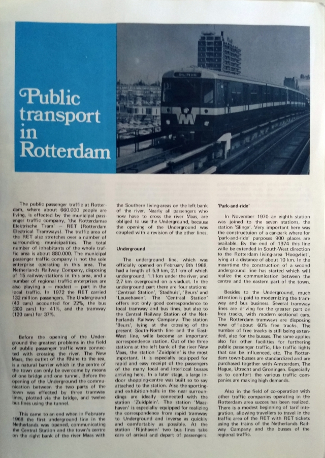 Public Transport in Rotterdam
