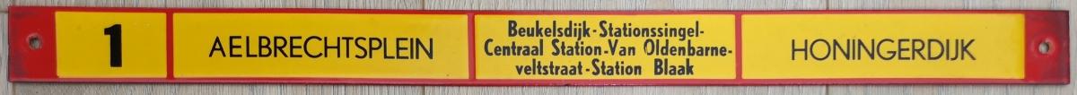 Lijn-1-Aelbrechtsplein-Honingerdijk