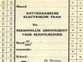 RET 1928 persoonlijk schoolabonnement 1 lijn maandkaart -a