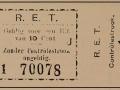 RET 1928 plaatsbewijs RET 10 cent -a