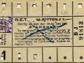 RET 1929 12-rittenkaart 1,- -a