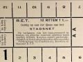RET 1929 12 rittenkaart stadsnet 1,00 (2) -a