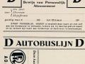 RET 1929 abonnement buslijn D -a