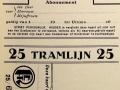 RET 1929 abonnement tramlijn 25 -a