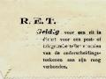 RET 1929 plaatsbewijs PTT-personeel -a