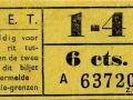 RET 1929 sectiekaartje 1-4 6 cts -a
