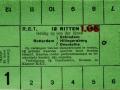 RET 1931 12-rittenkaart buitenlijnen 1,65 -a