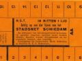 RET 1932 16-rittenkaart stadsnet Schiedam 1,10 -a