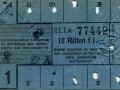 RET 1934 12-rittenkaart 1,- -a
