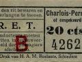 RET 1934 enkele reis Charlois-Pernis 20 cts -a