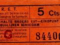 RET 1934 enkele reis buslijnen Schiedam 5 cts -a