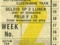 RET 1934 weekkaart 2 lijnen 1,75 -a