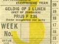 RET 1934 weekkaart 3 lijnen 2,25 -a