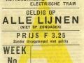 RET 1934 weekkaart alle lijnen 3,25 -a