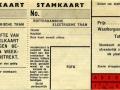 RET 1934 wisselkaart-Stamkaart 0,60 -a