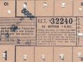 RET 1936 10 ritten kinderknipkaart 0,50 -a