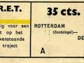 RET 1936 enkele reis Rotterdam-Delft 35 cts -a