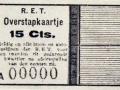RET 1936 overstapkaartje 15 cts. -a
