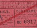 RET 1936 sectiekaartje contramerk -1- -a