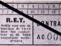RET 1936 sectiekaartje contramerk (2) -a