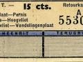 RET 1937 retourkaartje buitenlijn 15 cts -a