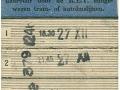 RET 1939 garnizoen Rotterdam 10-rittenkaart 0,50 -a