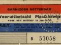 RET 1939 garnizoens Rotterdam vooruitbetaalde enkele reis -a
