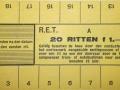 RET 1940 20-rittenkaart secties of kinderkaart voorzijde -a