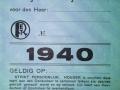 RET 1940 bewijs van vrij vervoer (K16) -a