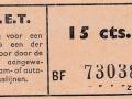 RET 1940 enkele reis 15 cts -a