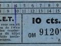 RET 1940 enkele reis sectiekaartje 10 cts -a