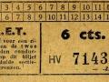 RET 1940 enkele reis sectiekaartje 6 cts -a