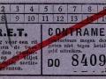 RET 1940 enkele reis sectiekaartje contramerk (2) -a