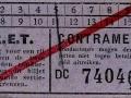 RET 1940 enkele reis sectiekaartje contramerk (3) -a