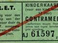 RET 1940 kinderkaartje contramerk -a
