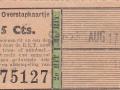RET 1940 overstapkaartje 15 cts -a