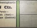 RET 1940 overstapkaartje 25 ct buitenlijnen voorzijde -a