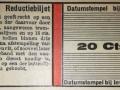 RET 1940 reductiebiljet 20 ct voorzijde -a