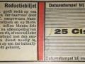 RET 1940 reductiebiljet 25 ct voorzijde -a