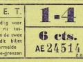 RET 1940 sectiekaartje 1-4 6 cts -a