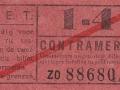 RET 1940 sectiekaartje 1-4 contramerk -a