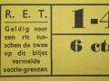 RET 1940 sectiekaartje 1-4 voorzijde -a