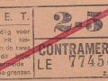 RET 1940 sectiekaartje 2-5 contramerk -a