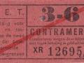 RET 1940 sectiekaartje 3-6 contramerk -a