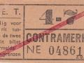RET 1940 sectiekaartje 4-7 contramerk -a