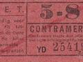 RET 1940 sectiekaartje 5-8 contramerk -a