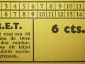 RET 1940 sectiekaartje 6 cent voorzijde -a